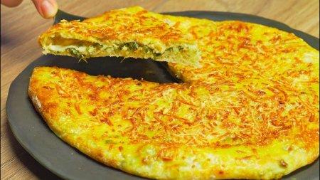 Сырный пирог с зеленью и творогом