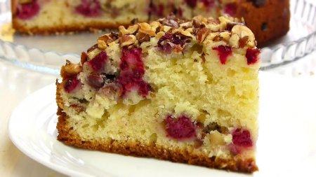 Восхитительный малиновый пирог-сметанник
