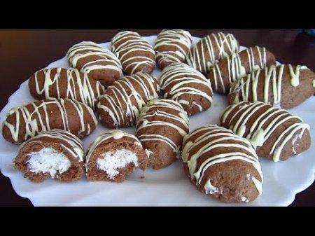Шоколадное печенье с кокосом