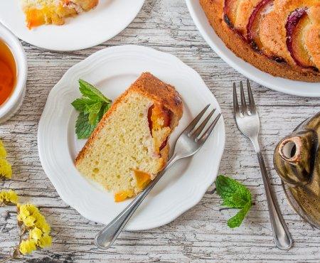 Персиковый пирог на оливковом масле