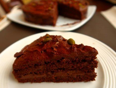 Шоколадный торт с шоколадным заварным кремом