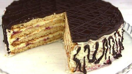Бесподобный медово-песочный торт