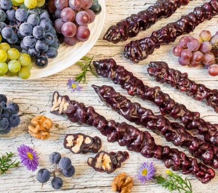 Чурчхела с грецкими орехами