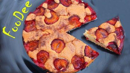 Сливовый пирог по легендарному рецепту из газеты