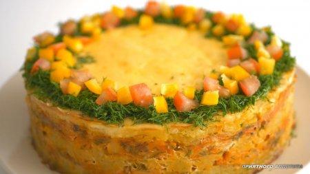 """Горячее блюдо """"Рыбный торт"""""""