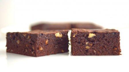 Брауни без шоколада, на какао-порошке