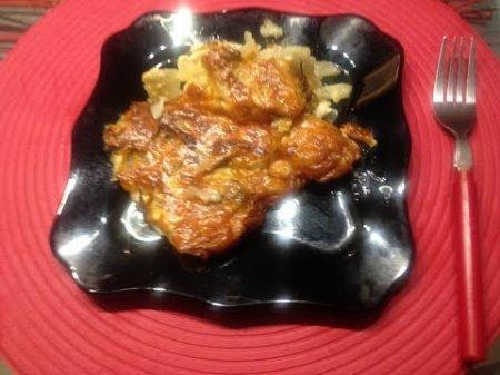 Картофельная запеканка с грибами под сыром