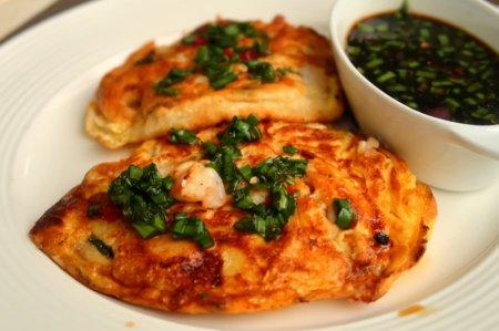 Корейские блинчики с морепродуктами