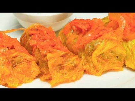 Голубцы с мясом из пекинской капусты