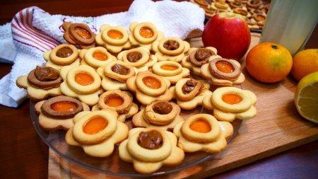 Очень вкусное песочное печенье с джемом