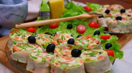 Вкуснейшие закусочные рулеты из лаваша с начинкой